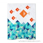 Little Fishies quilt pattern by Sheri Cifaldi-Morrill | whole circle studio. Great gift for a baby or child. Quilt pattern available at shop.wholecirclestudio.com