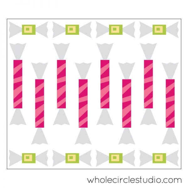 Shoreline Sweets blocks pattern by Sheri Cifaldi-Morrill | whole circle studio. Foundation paper piecing pattern. Cute candy blocks! Block pattern available at shop.wholecirclestudio.com