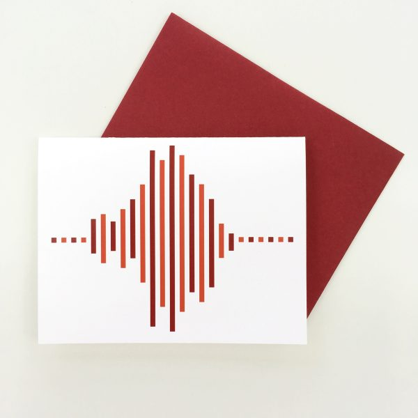 Modern Love greeting card by Whole Circle Studio. Bee fabric available at www.wholecirclestudio.com