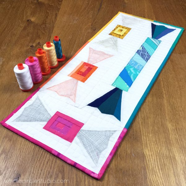 Makes these cute, summertime candy quilt blocks. Shoreline Sweets is a foundation paper piecing pattern that is easy to piece with detailed instructions and tips. Makes a great hostess gift, beach house coaster, table runner, placemats or mini quilt.