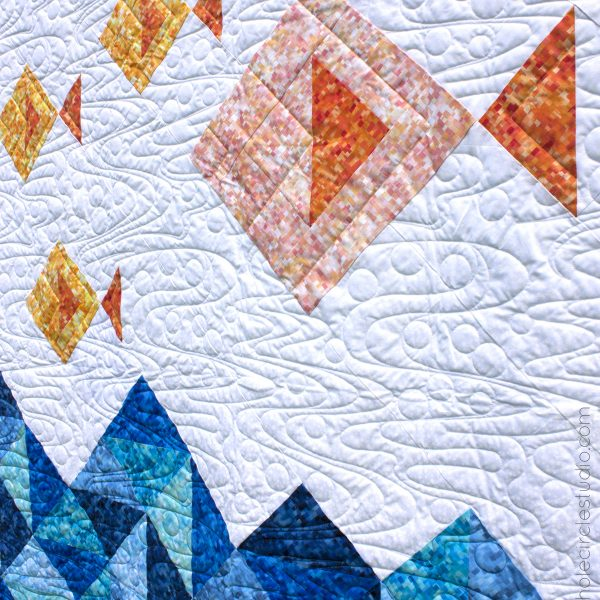 Go Fish! This is a fun, modern quilt pattern that is comprised mostly of half square triangles. Makes a great gift for a baby or child. This tested pattern contains detailed instructions and diagrams, making it a breeze to piece. Works well with prints, solids or a combination of both!