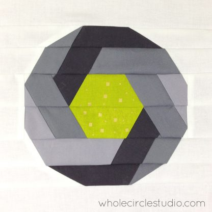 Shutter Snap quilt block by Sheri Cifaldi-Morrill | whole circle studio. Foundation paper piecing pattern. Great gift for photography enthusiast. Quilt pattern available at shop.wholecirclestudio.com