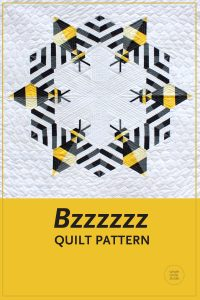 Make this cute, modern, quilt featuring a combination of traditional machine piecing and foundation paper piecing. Perfect as a gift for a bee lover or beekeeper! Make additional blocks to make a larger quilt (layout ideas are provided to make a lap, twin or queen quilt). This tested pattern contains both detailed instructions and diagrams, making it easy to piece.