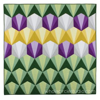 Deco Daybreak quilt pattern by Sheri Cifaldi-Morrill | whole circle studio. Foundation paper piecing pattern. Great for beginners! Quilt pattern available at shop.wholecirclestudio.com