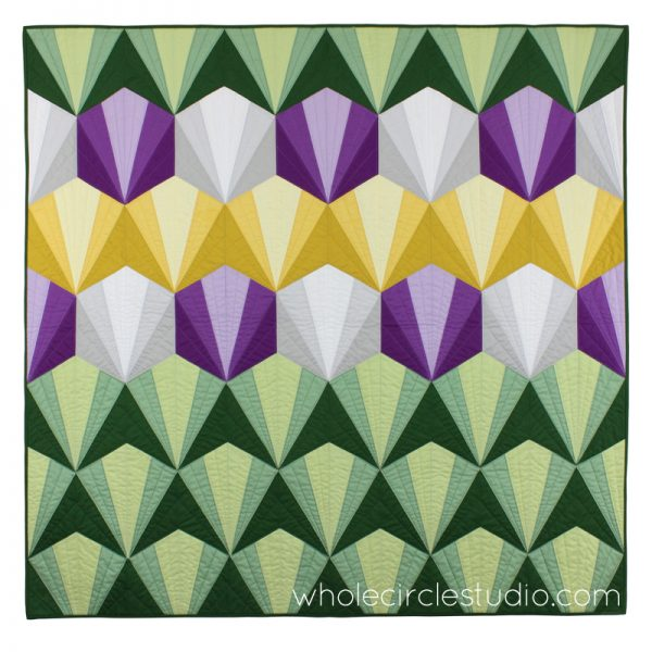 Deco Daybreak quilt pattern by Sheri Cifaldi-Morrill   whole circle studio. Foundation paper piecing pattern. Great for beginners! Quilt pattern available at shop.wholecirclestudio.com