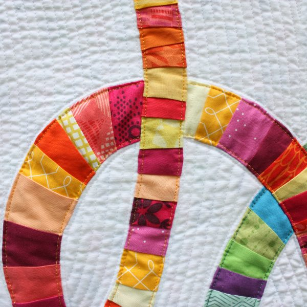 Detail of Double Wedding Knots Mini Quilt by Sheri CIfaldi-Morrill | Whole CIrcle Studio