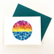 Sun salutations greeting card by Whole Circle Studio. Card and quilt pattern available at www.wholecirclestudio.com