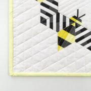SImply Bzzzzzz mini quilt. Handcrafted by Sheri Cifaldi-Morrill. Available at www.wholecirclestudio.com