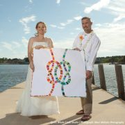 Detail of Double Wedding Knots Mini Quilt by Sheri CIfaldi-Morrill   Whole CIrcle Studio