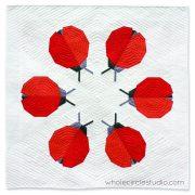 modern | ladybug | ladybug loop | foundation paper piecing | paper piecing | ladybug quilt | pattern | kid quilt | insect | quilt