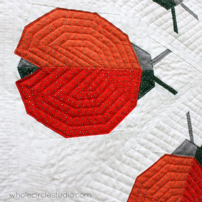 modern | ladybug | ladybug loop | foundation paper piecing | paper piecing | ladybug quilt | pattern | kid quilt | insect | quilt