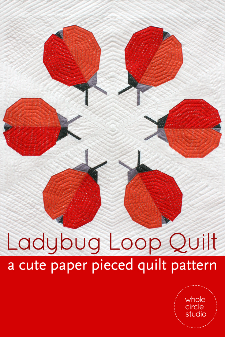 Ladybug Loop Mini Quilt Pattern  Pdf Download