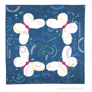 Who can resist a beautiful butterfly? Make this fun, foundation paper piecing quilt pattern. Pattern includes instructions for making a four quilt blocks to construct a mini quilt or wallhanging. Ideas are given for a throw, twin or queen size quilt or design your own quilt layout. This is the perfect quilt for a baby, kid or nature lover!