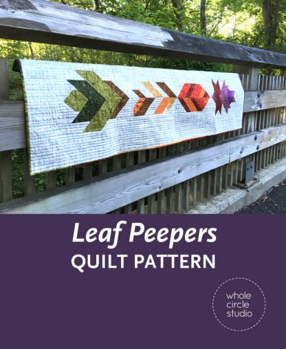 Looking for a fun, nature-inspired quilting project?Join Leah Day and Sheri Cifaldi-Morrill of Whole Circle Studio in this easy fall quilt along. Leaf Peepers is the perfect table runner or wall hanging for Thanksgiving. Join us as we give tips and tutorials as we make these quilt blocks together! Visit http://blog.wholecirclestudio.com/leafpeepers for all the Quilt Along details.