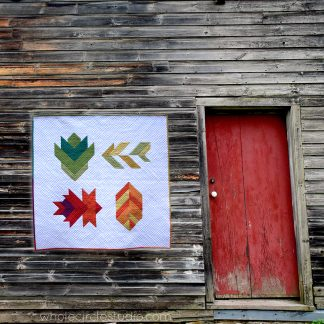 Make your own Leaf Peepers quilt. A beautiful rustic themed wall hanging or larger quilt. Leaf Peepers was inspired by the beautiful color progression of autumn foliage in the United States. This quilt pattern is a collaboration of Sheri Cifaldi-Morrill/Whole Circle Studio and Leah Day.