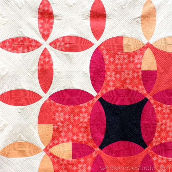 Picnic Petals is a modern quilt based on a traditional Flowering Snowball block. This tested pattern contains both detailed instructions and diagrams, making it easy to piece. Instructions are provided for three sizes: Throw, Twin and Queen. Pattern by wholecirclestudio.com
