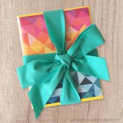 Set of 6 notecards. A perfect hostess or small gift! A fun variety of blank greeting cards perfect for anniversaries, weddings, Valentine's Day, birthdays, thinking of you, get well soon or just because! Includes Sun Salutations, Cabana, Big Island Sunset, Double Wedding KNots, Cabana and Bzzzzzz. Photographed from the award winning modern quilts and patterns by Sheri CIfaldi-Morrill of Whole CIrcle Studio
