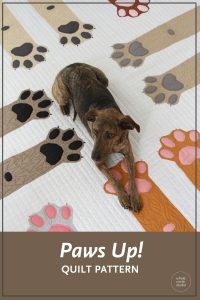 "Make Paws Up! for the dog or cat lover in your life. This makes the perfect gift for anyone with a special furry pet in their life. Paws Up! is a fun, adorable quilt that uses intermediate foundation paper piecing techniques. Layout instructions are provided to make a Mini, Throw, Twin or Queen quilt. This tested pattern contains both detailed instructions and diagrams, making it easy to piece. Each Paws Up! block consists of 2 paws/legs and measures 30"" x 30"" making it a flexible design to customize your own quilting project."