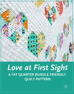 Make your own Love at First Sight quilt! Fat quarter friendly and an easy, beginner-friendly foundation paper piecing quilt pattern, this modern quilt makes the perfect wedding, engagement, anniversary or friendship gift. It's also super sweet for a baby or kid. Included in the pattern are instructions for two types of heart blocks—basic and details along with fabric requirements and instructions to arrange the blocks into 3 layouts—a wall quilt or two types of throw quilts. Make it your own by swapping out fabric or rearranging the blocks.