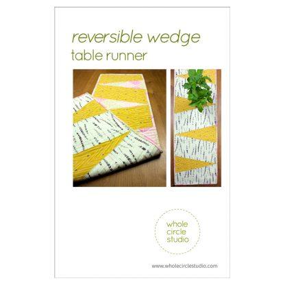 free PDF pattern: Reversible Wedge Table Runner download
