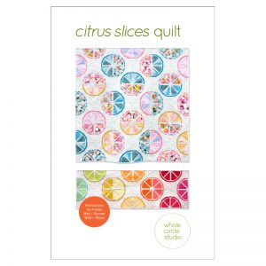 The perfect modern quilt project to freshen up your home, Citrus Slices pairs perfectly with prints or solid fabric. Use what you have in your stash and make it scrappy or grab your favorite fat quarter bundle for the fruit segments and rinds. Foundation paper piece lemons, oranges, grapefruit, limes and more!