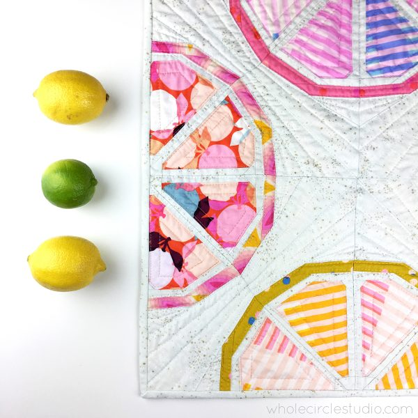 Foundation paper piece Citrus Slices, a fun quilt pattern.