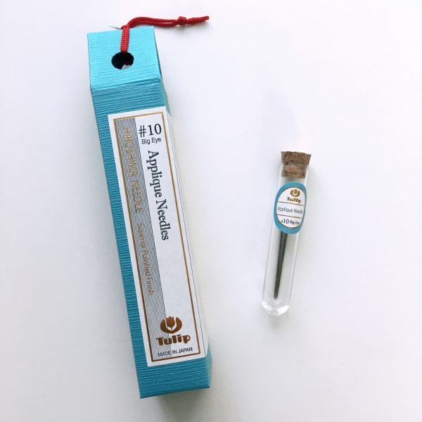 Tulip Hiroshima Applique Needles #10 Big Eye. Made in Japan. Perfect for piecing needle-turn applique quilt tops.