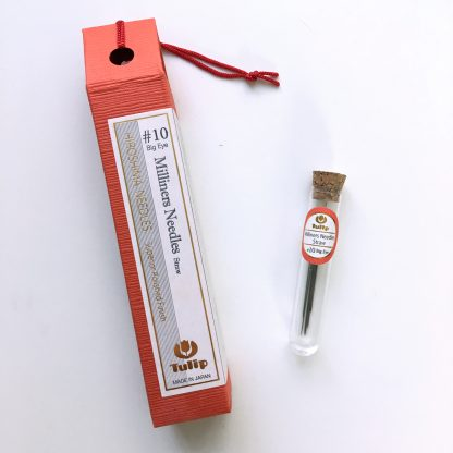 Tulip Hiroshima Milliner Needles #10 Big Eye. Made in Japan. Perfect for English Paper Piecing (EPP) quilt tops.