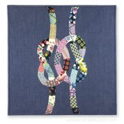 Double Friendship Knots mini quilt by Whole Circle Studio