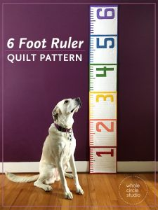 This 6' Ruler quilt pattern is a cheeky reminder in this time of social distancing of what six feet (or 2 yards for us quilters!) looks like. Make this tape measure quilt/runner as a utilitarian decoration for display and use at your next socially distanced gathering. When not being used for a utilitarian purpose, it also makes a fun table or bed runner. Make one as a gift a tinkerer, teacher, kid, or baby as a wall hanging or growth chart.