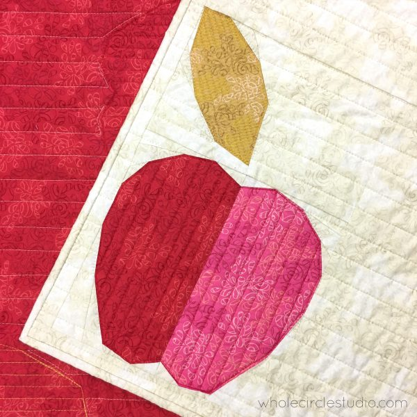 Make this fresh, modern quilt for your home! Apple Turnover is a fun, foundation paper piecing pattern. Download the PDF pattern — instructions included for four sizes: mini, table runner, wall and throw. Use your scraps from your fabric stash, your favorite fat eighths, fat quarters, and yardage!