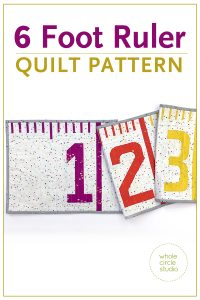 Make this easy foundation paper piecing (FPP) quilt —a tape measure quilt/runner. It also makes a fun table or bed runner. Make one as a gift a tinkerer, teacher, kid, or baby as a wall hanging or growth chart. PDF pattern