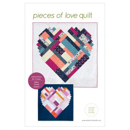 Pieces of Love — an easy heart shaped PDF quilt pattern,